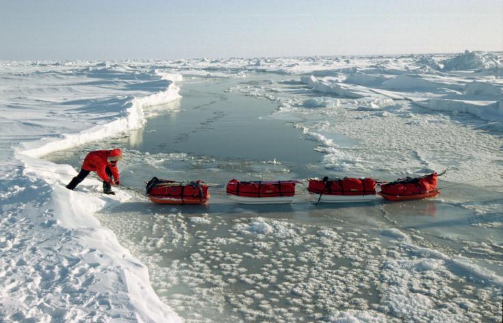 © expédition au Pôle nord géographique en ski et pulka avril 2015