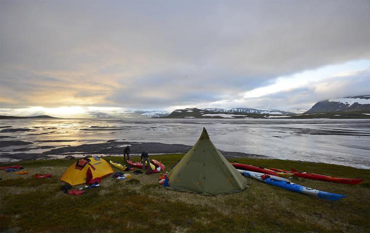 © kayak de mer en Islande
