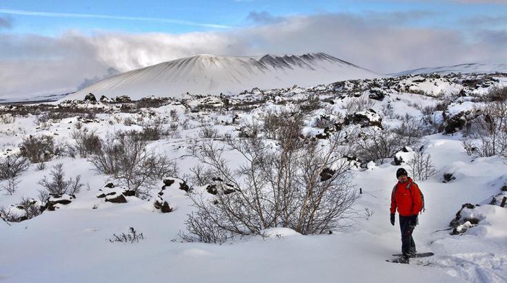 © raquettes en Islande Myvatn