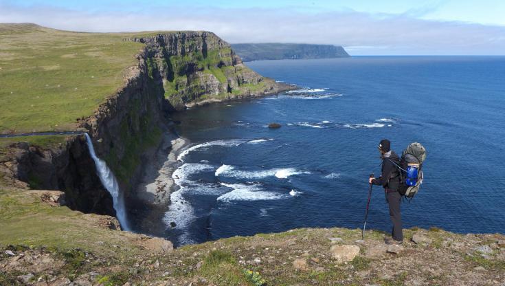 © Trek dans la reserve naturelle du Hornstrandir en Islande
