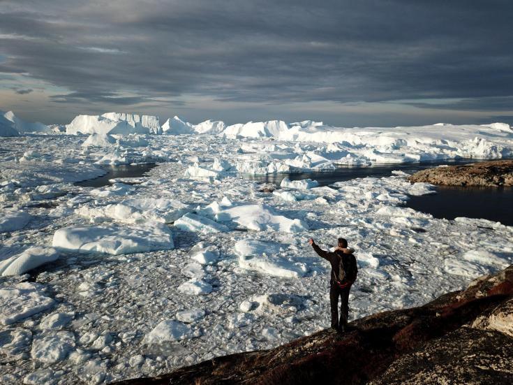 © Ilulissat, icebergs, baie de Disko, Groenland