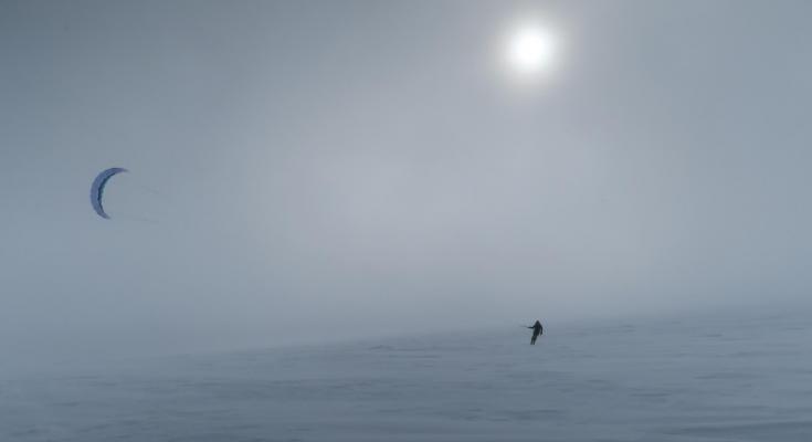 © traversée groenland snowkite pulka ski