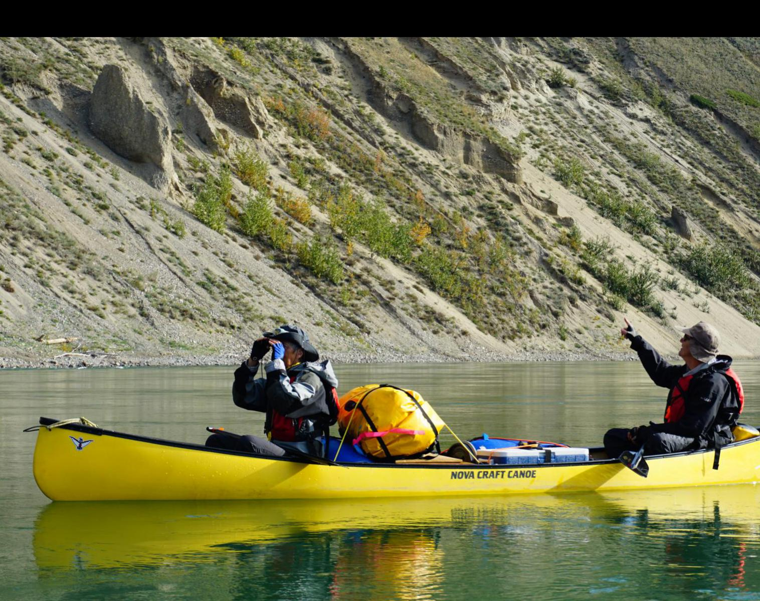 Canada  Yukon River, descente en Canoë    Kayak & Canoë