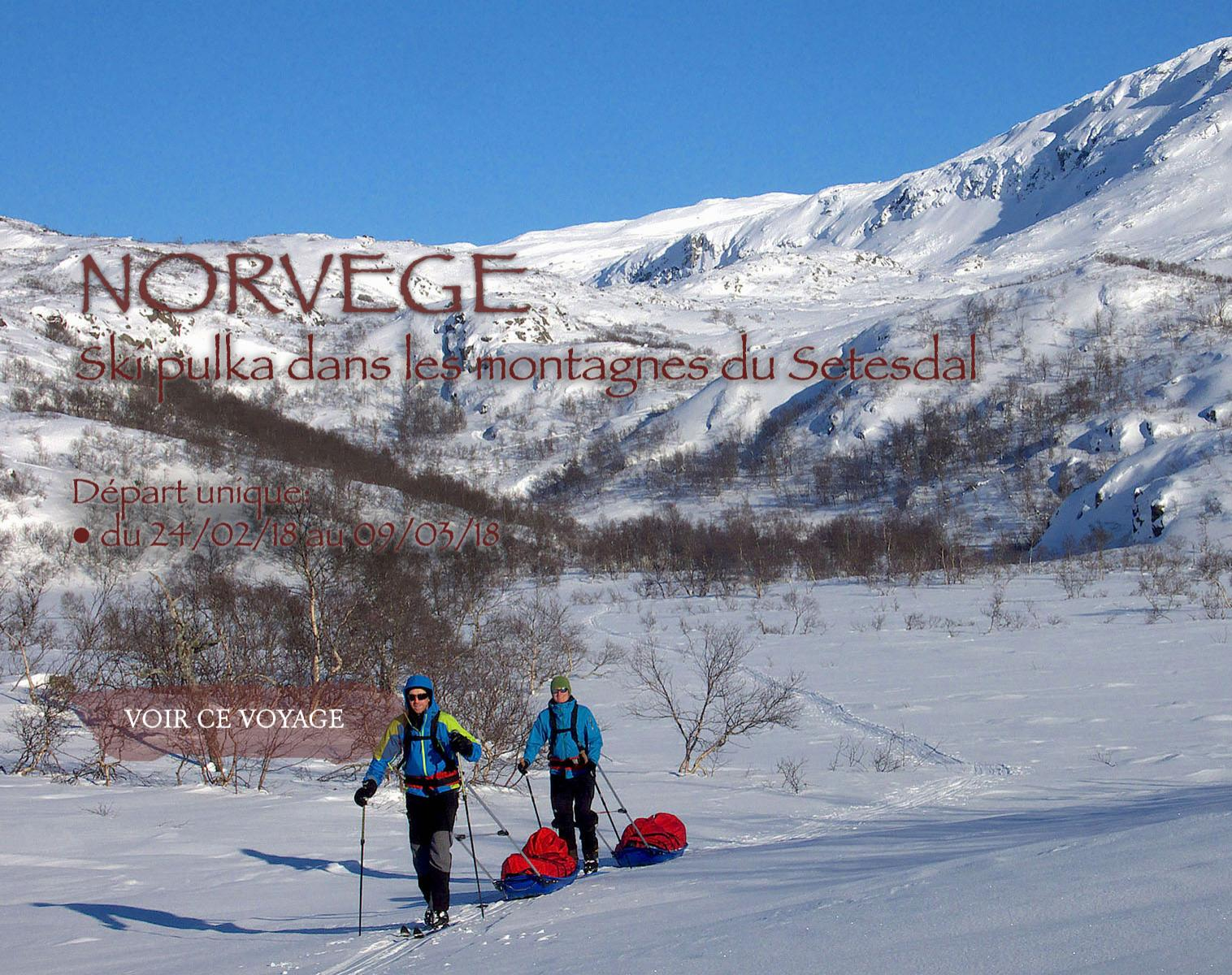 Norvège, ski pulka Setesdal