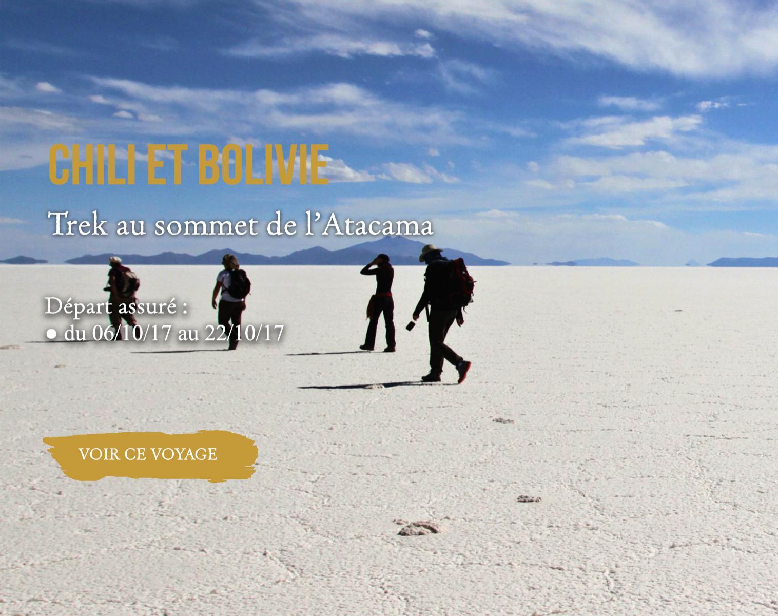 Chili, Bolivie : Trek au sommet de l'atacama