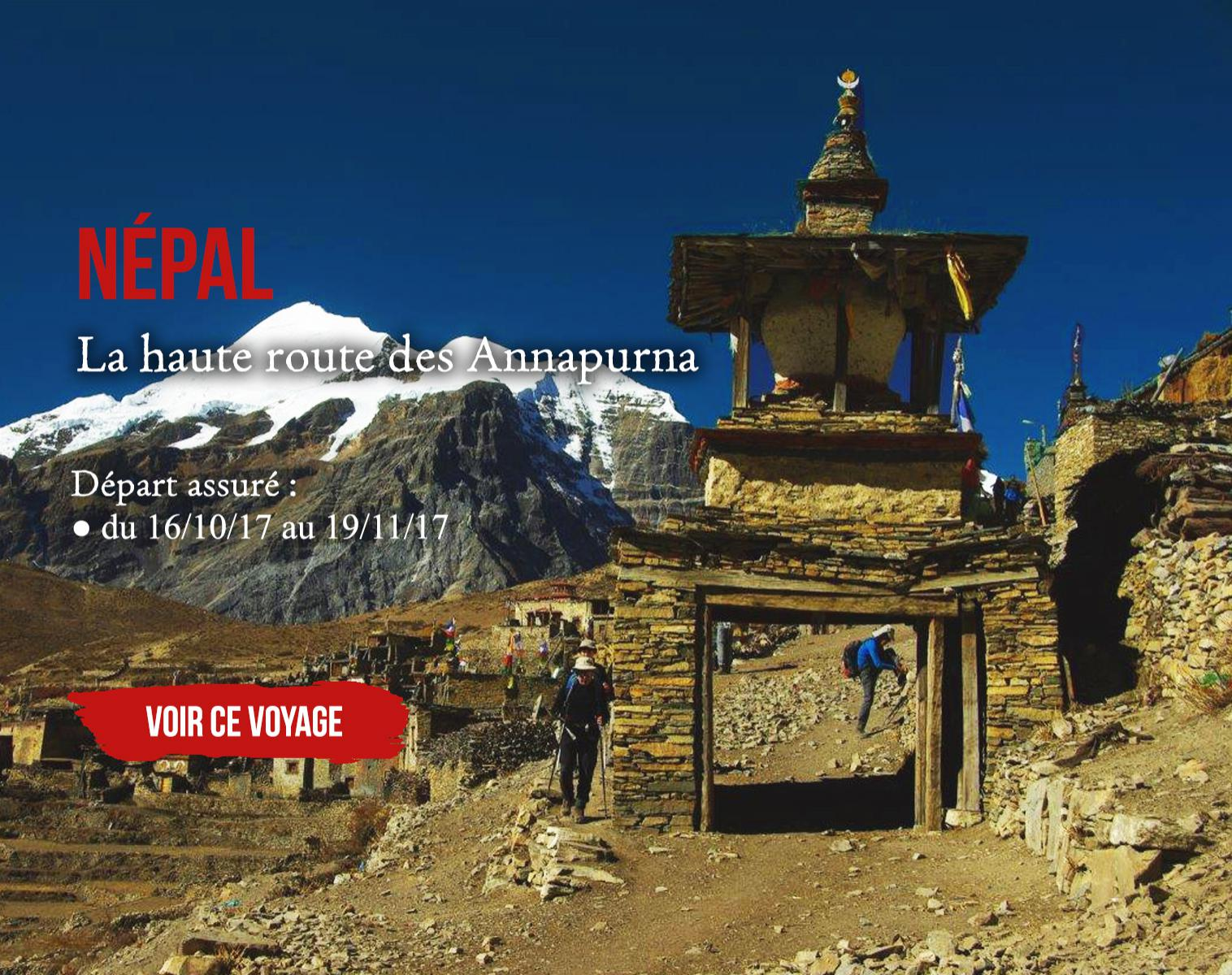 Népal, la haute route des Annapurnas