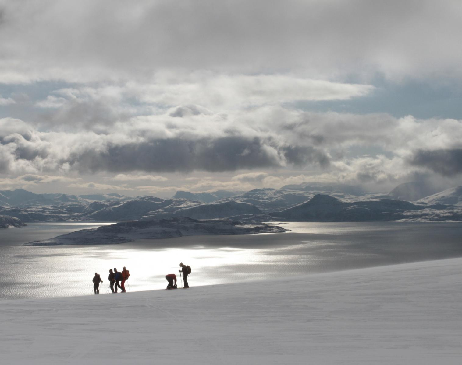 Norvège  Ski Voile en Norvège dans les Alpes de Lyngen
