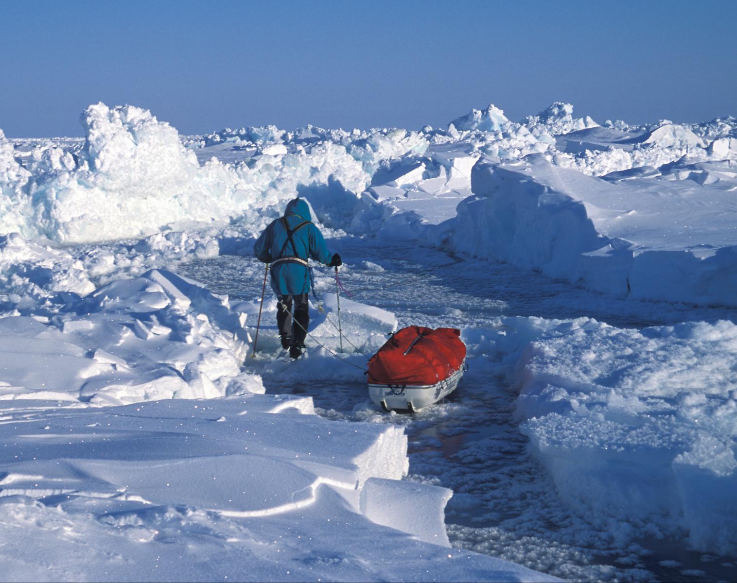 Pôle Nord  Pôle Nord géographique à ski: les derniers degrés de la planète...   Ski & Pulka