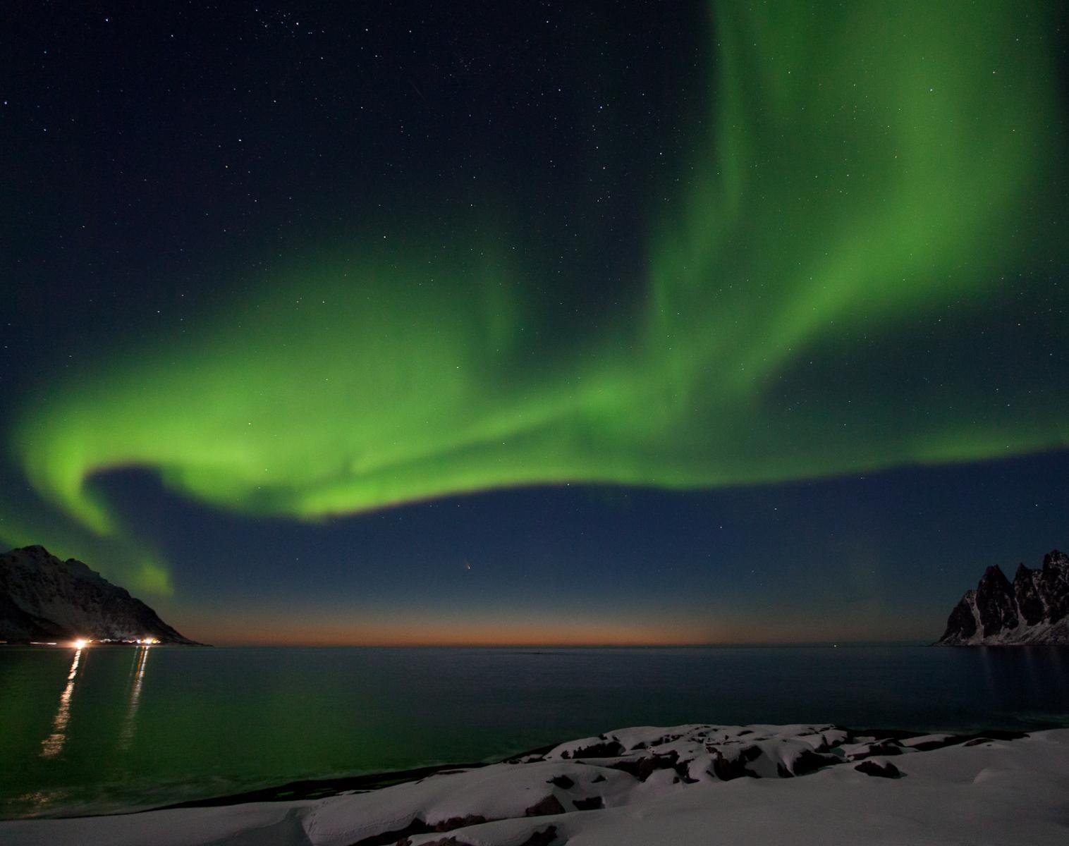 Norvège  Photographier les Aurores Boréales en Norvège   Photo Observation nature Raquettes