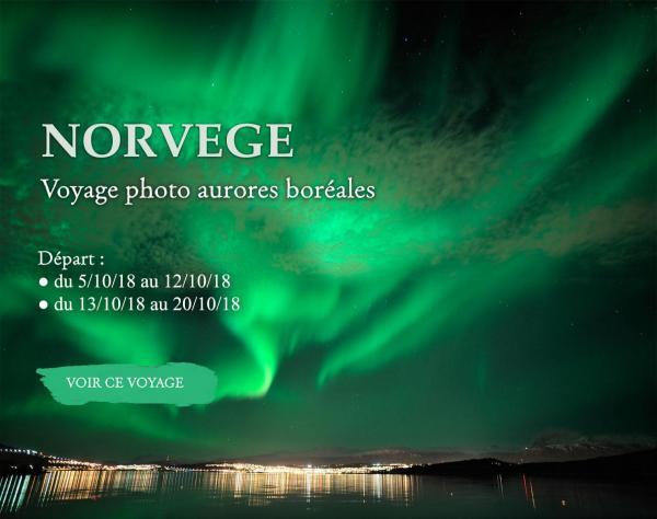 Norvège , photographier les aurores boréales