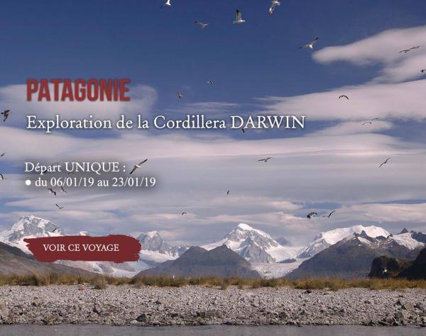 Patagonie, Exploration Cordillera Darwin