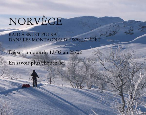 Norvège, raid à ski et pulka dans les montagnes du Sørlandet