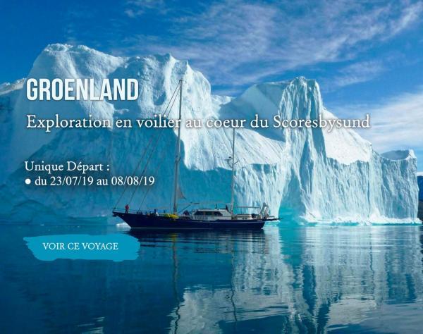 Groenland, Exploration en voilier au coeur du Scoresbysund