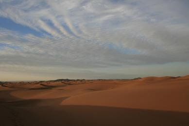 randonnée dunes erg ezzahar