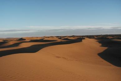 randonnée désert marocain dromadaire
