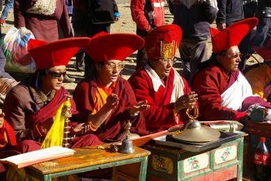 Moines bouddhistes Mont Kailash Tibet