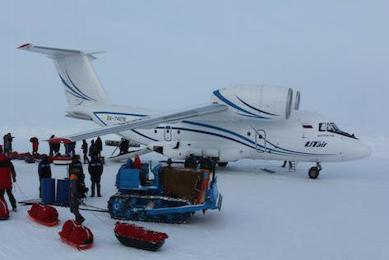 Pôle nord géographique en ski pulka avril 2015