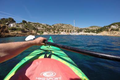 kayak de mer à Porquerolles