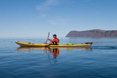 kayak de mer en Islande