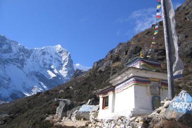 Caravanes de yaks descendant du Nangpa La, région de l'Everest
