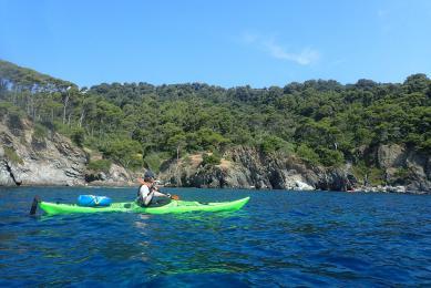 kayak de mer aux îles des Embiez