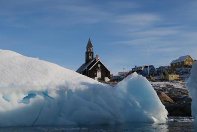Ilulissat, icebergs, côte ouest du Groenland