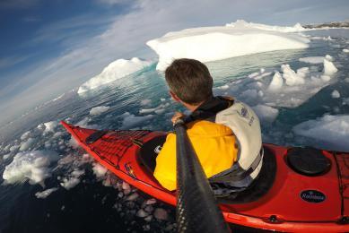 Groenland kayak de mer ilulissat baie de disko