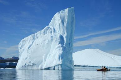 Groenland Iceberg kayak de mer baie de disko