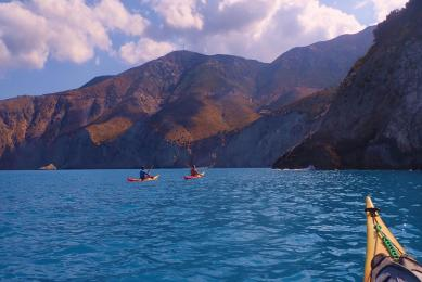 grèce kayak de mer