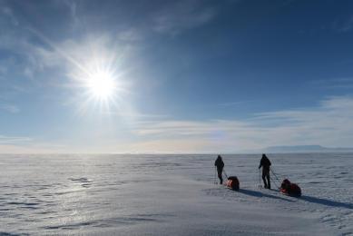 traversée groenland snowkite ski pulka
