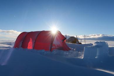 ski sur le vatnajokull