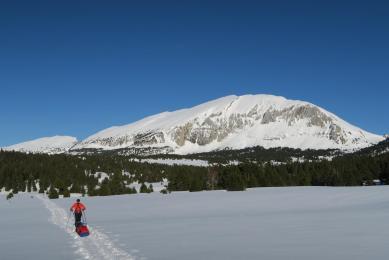 ski pulka France Vercors