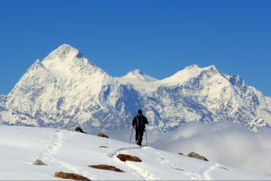 Coucher de soleil sur le Kangchenjunga