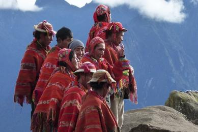 Porteurs péruviens sur le Chemin de l'Inca